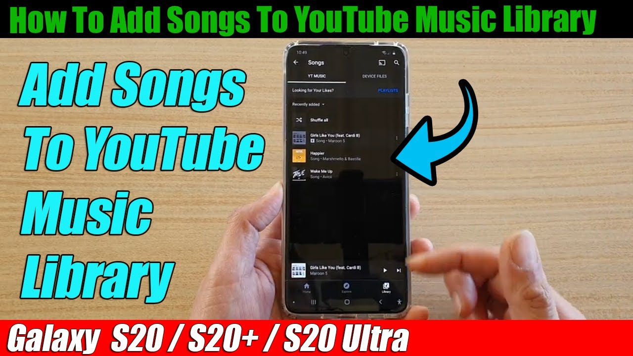 Add songs to youtube music