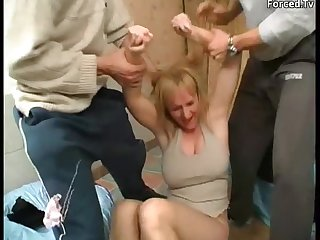 Mature gets forced to fuck