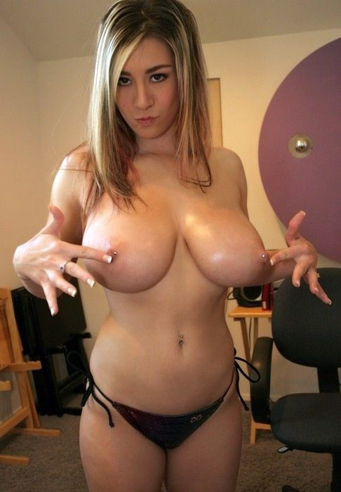 Young coed big naked breast